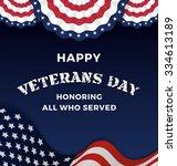 happy veterans day and... | Shutterstock .eps vector #334613189