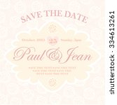 save the date. wedding... | Shutterstock .eps vector #334613261