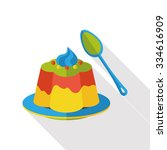 pudding jelly flat icon | Shutterstock .eps vector #334616909