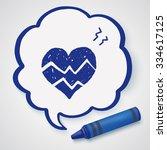 doodle ecg | Shutterstock .eps vector #334617125