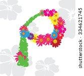 letter c flower | Shutterstock .eps vector #334621745