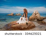 beautiful young bride on the... | Shutterstock . vector #334625021