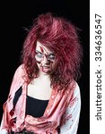 snarling  red headed zombie... | Shutterstock . vector #334636547