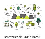 thin line natural resources... | Shutterstock .eps vector #334640261