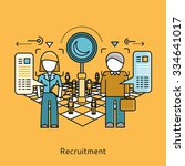 recruitment icon flat design... | Shutterstock .eps vector #334641017