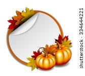 thanksgiving banner  blank ... | Shutterstock .eps vector #334644221