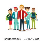 vector group of students | Shutterstock .eps vector #334649135