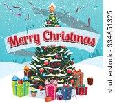 congratulations merry christmas ... | Shutterstock . vector #334651325
