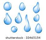 Water drop elements - stock vector
