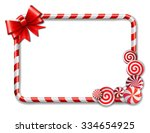 frame made of candy cane  with... | Shutterstock .eps vector #334654925