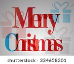 merry christmas. abstract... | Shutterstock . vector #334658201