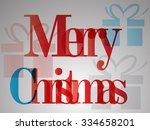 merry christmas. abstract... | Shutterstock . vector #334658201