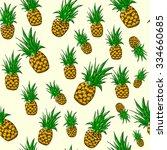 juicy pineapples vector... | Shutterstock .eps vector #334660685