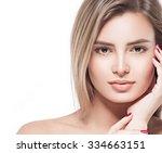 Beautiful Woman Face Portrait...