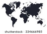 world map.vector | Shutterstock .eps vector #334666985
