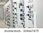 electrical cabinet with... | Shutterstock . vector #334667675