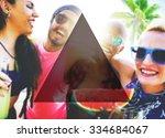 summer togetherness friendship...   Shutterstock . vector #334684067