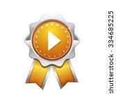 play yellow vector icon design | Shutterstock .eps vector #334685225