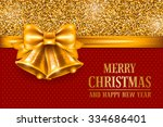 luxury christmas and new year... | Shutterstock .eps vector #334686401
