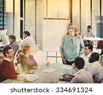 business people seminar... | Shutterstock . vector #334691324