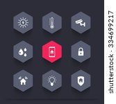 smart house  hexagon icons ...