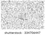 sketchy vector hand drawn... | Shutterstock .eps vector #334706447