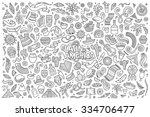 sketchy vector hand drawn... | Shutterstock .eps vector #334706477