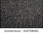chalkboard vector hand drawn... | Shutterstock .eps vector #334708481