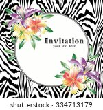 Floral Greeting Card With...
