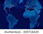 Globe Earth Model By Night Wit...