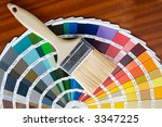 photo of paintbrush with card... | Shutterstock . vector #3347225