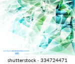 bright blue and green  polygon...   Shutterstock .eps vector #334724471