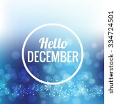 icon hello  december vector eps ... | Shutterstock .eps vector #334724501