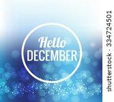 icon hello  december vector eps ... | Shutterstock .eps vector #334724501