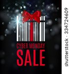 cyber monday background with... | Shutterstock .eps vector #334724609