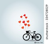love bike design. vector... | Shutterstock .eps vector #334728029