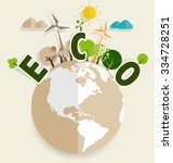 eco friendly. ecology concept... | Shutterstock .eps vector #334728251