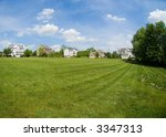 extreme wide angle view of a... | Shutterstock . vector #3347313