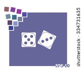 dice sign. casino game symbol.... | Shutterstock .eps vector #334731635