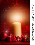 white candle   candle with... | Shutterstock . vector #334734749