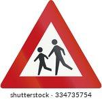 netherlands road sign j21  ... | Shutterstock . vector #334735754