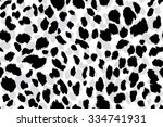 Stock vector seamless abstract print with leopard skin imitation vector illustration 334741931