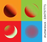 abstract halftone circle design.... | Shutterstock . vector #334757771