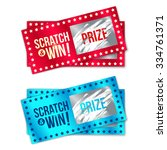 scratch card game and win. with ... | Shutterstock .eps vector #334761371