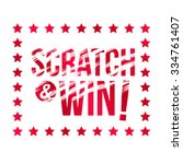 letters scratch and win. with... | Shutterstock .eps vector #334761407