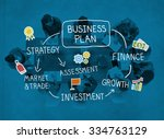 business plan strategy... | Shutterstock . vector #334763129