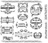 vector set of vintage badges... | Shutterstock .eps vector #334763951