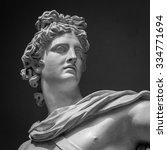 apollo belvedere statue. detail ... | Shutterstock . vector #334771694