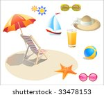 summer holidays icon set | Shutterstock .eps vector #33478153