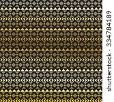 seamless vector tribal texture. ... | Shutterstock .eps vector #334784189